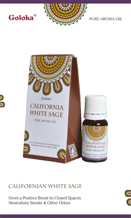 Californian White Sage, Salvia, Doftolja, 10ml Goloka