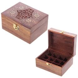 Låda för 12 Eteriska Oljor eller Parfymoljor design 2