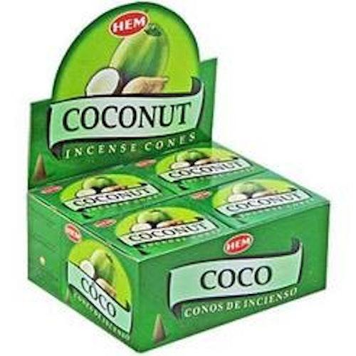 Coconut, rökelsekoner, HEM
