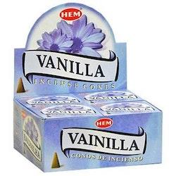 Vanilla, rökelsekoner, HEM