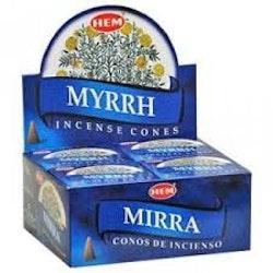 Myrrh, rökelsekoner, HEM