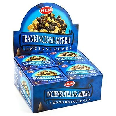 Frankincense Myrrh, rökelsekoner, HEM