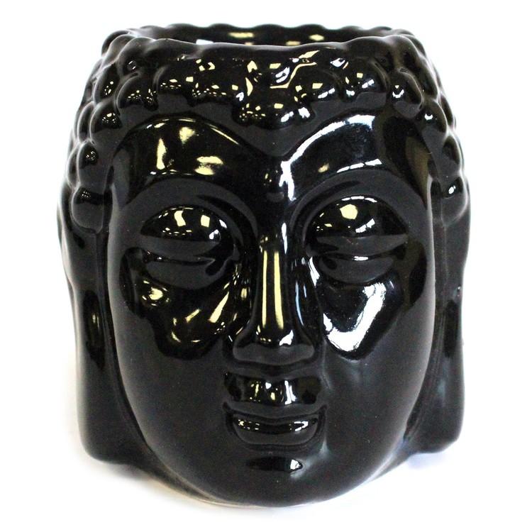 Buddha svart keramik, Aromalampa