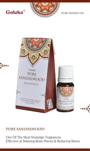 Pure Sandalwood, Sandelträ Doftolja, 10ml Goloka