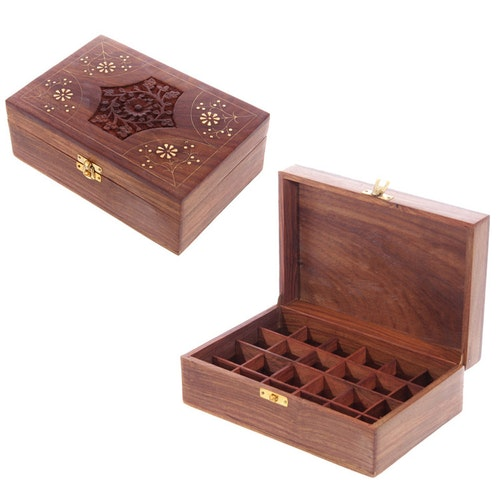 Låda för 24 Eteriska Oljor eller Parfymoljor design 2