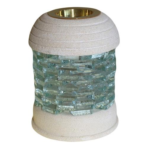 Round Glass Brick, Sandsten, Aromalampa
