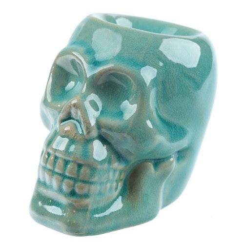 Dödskalle Mini Turkos keramik, Aromalampa