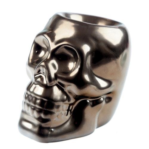 Dödskalle Mini Brons keramik, Aromalampa