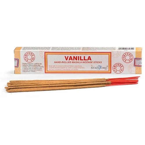 Vanilla, rökelse, Stamford Masala