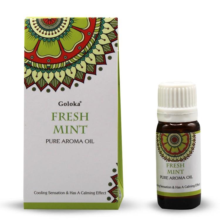 Fresh Mint, Doftolja, 10ml Goloka
