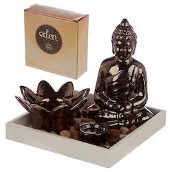 Buddha och Lotus rökelse- och ljushållare