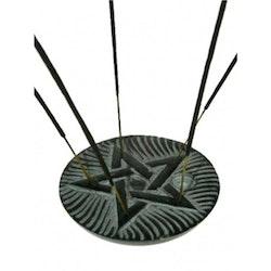 Rund rökelsehållare med Pentagram, Täljsten