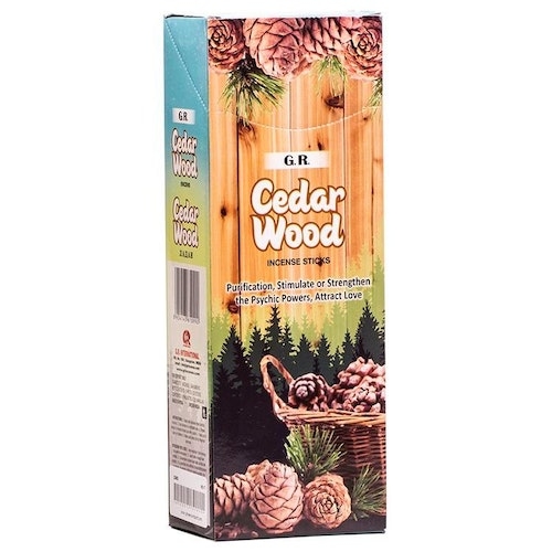 Cedarwood, rökelse, G.R Incense