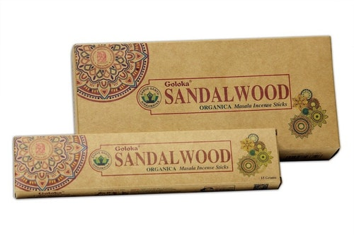 Sandalwood, Sandelträ ekologisk, Goloka rökelse