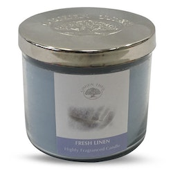 Fresh Linen 200g Doftljus, Green Tree