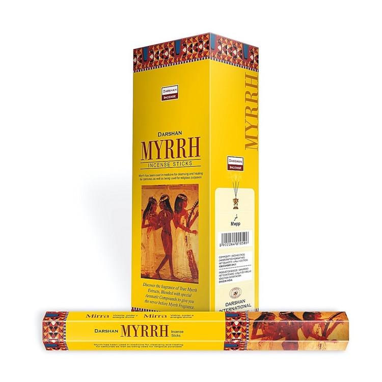 Myrrh, Myrra rökelse, Darshan