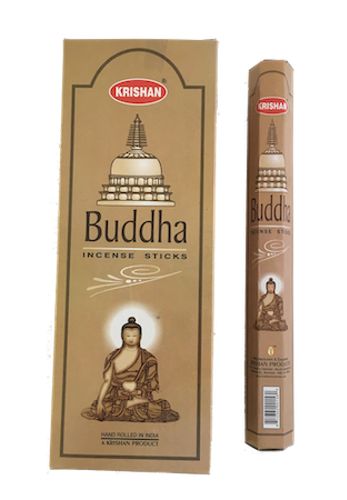 Buddha, rökelse, Krishan
