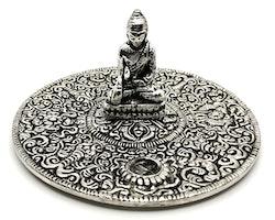 Buddha metall Rökelsehållare