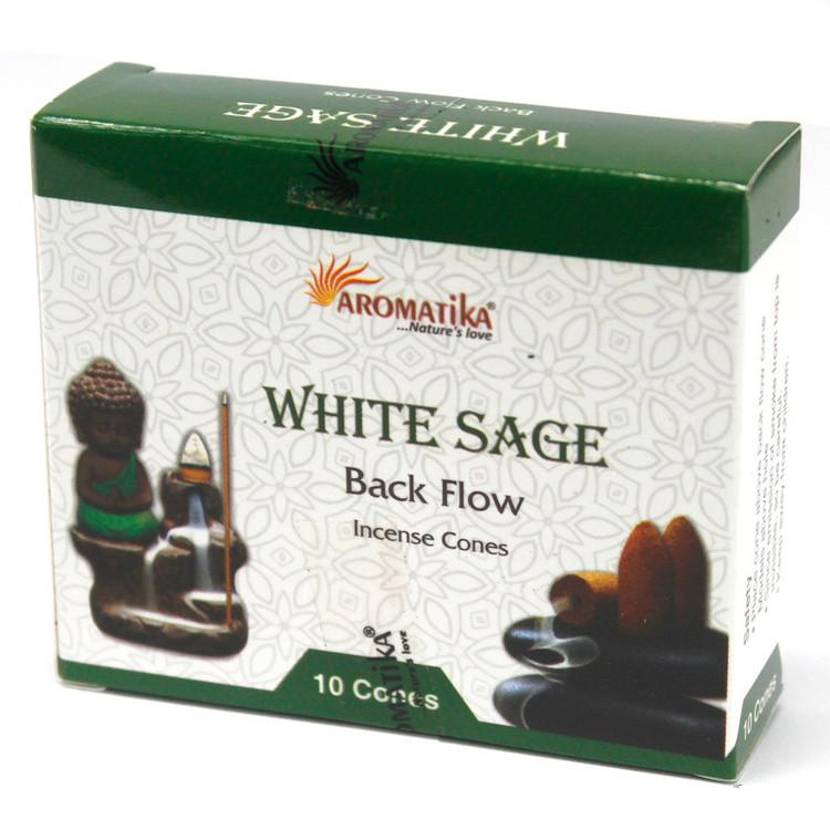 White Sage Salvia Backflow rökelser, Aromatica