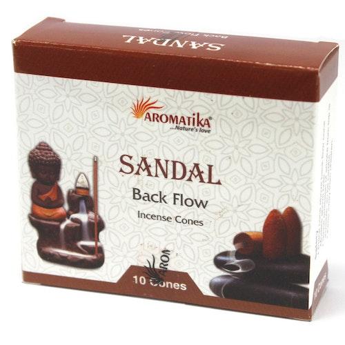 Sandalwood, Sandelträ Backflow rökelser, Aromatica