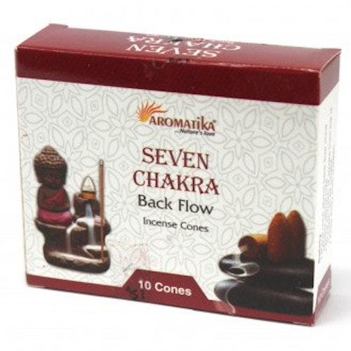 7 Chakras Backflow rökelser, Aromatica