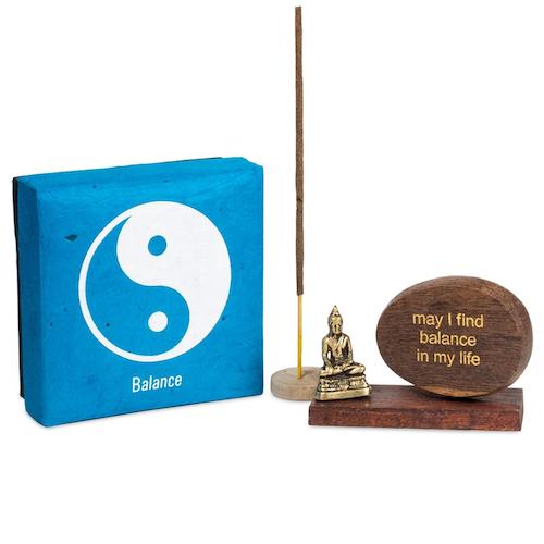 Rökelsehållare m.m. med affirmation, Balance