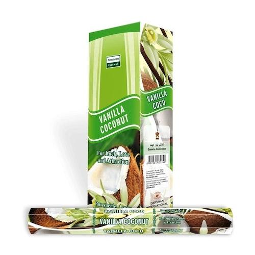 Vanilla Coconut, Vanilj Kokosnöt rökelse, Darshan