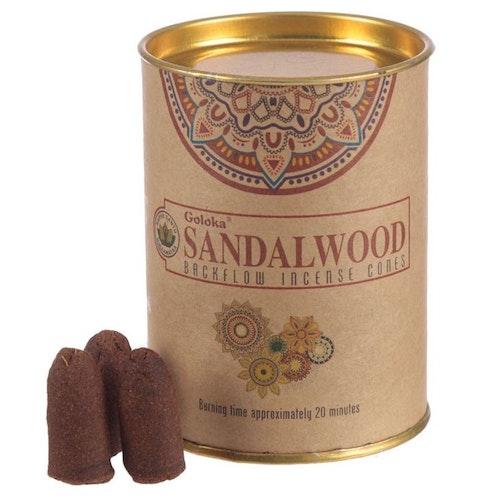 Sandalwood, Sandelträ Backflow rökelser, Goloka