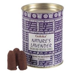 Natures Lavendel, Lavender Backflow rökelser, Goloka