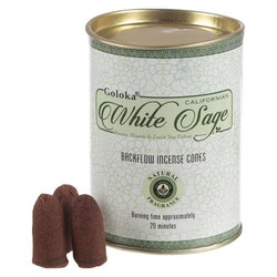 White Sage, Salvia Backflow rökelser, Goloka