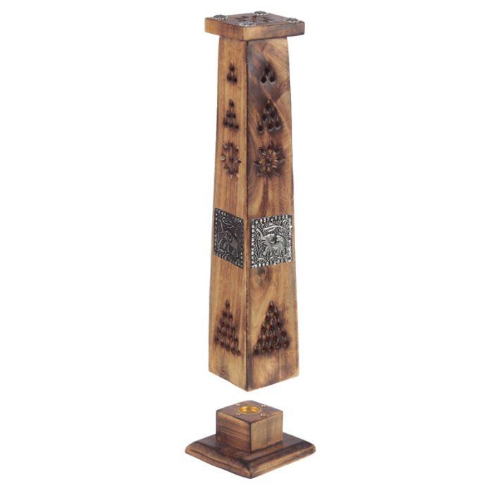 Elefant Mangoträ wood tower, Rökelsetorn