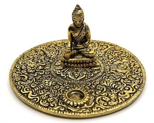 Buddha guldmetall Rökelsehållare