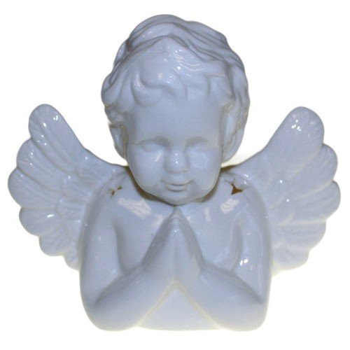 Praying Angel vit keramik, Aromalampa