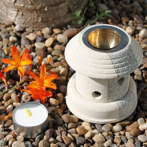 Combo Lantern, Sandsten, Aromalampa