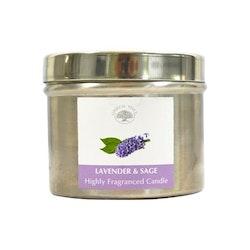 Lavender & Sage 150g Doftljus, Green Tree