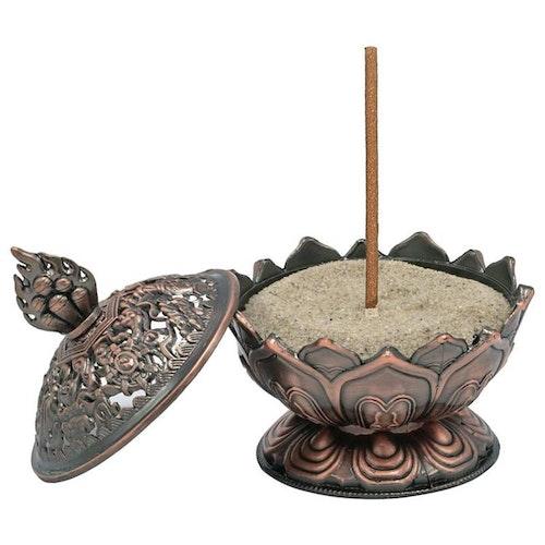 Lotus Rökelsehållare, Kopparfärgad