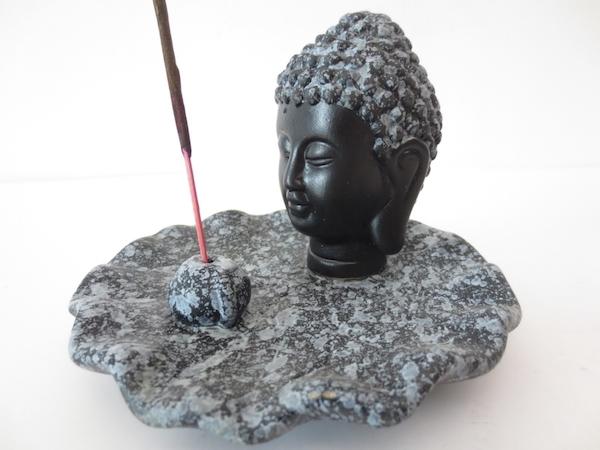 Buddha grå Rökelsehållare