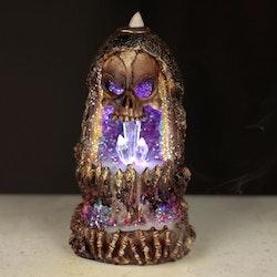 Dödskalle kristallgrotta LED, Backflow Rökelsebrännare