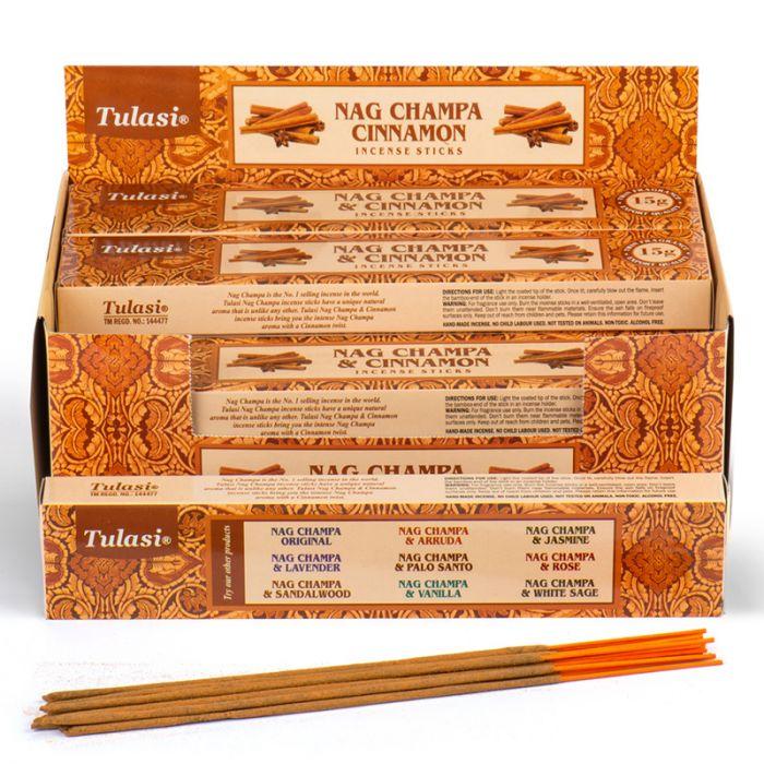 Cinnamon Nag Champa, rökelse, Tulasi