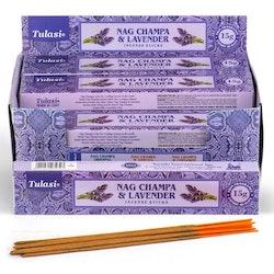 Lavender Nag Champa, rökelse, Tulasi