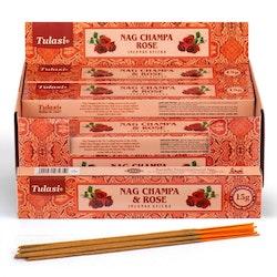 Rose Nag Champa, rökelse, Tulasi
