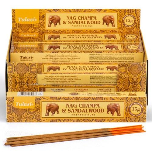Sandalwood Nag Champa, rökelse, Tulasi