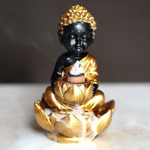 Buddha med lotus B, Backflow Rökelsebrännare
