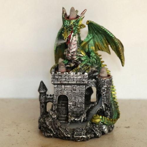 Drakslott Trippel Backflow Grön, Rökelsebrännare