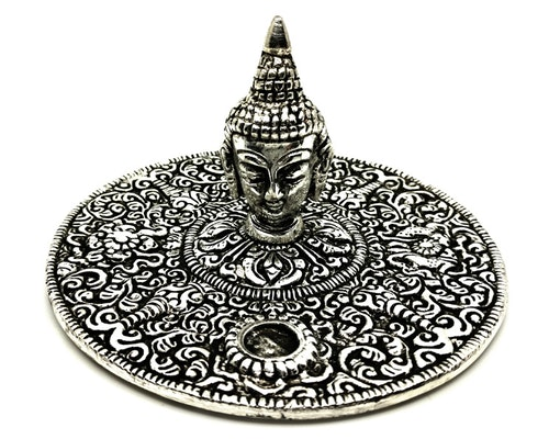 Buddhahuvud metall Rökelsehållare