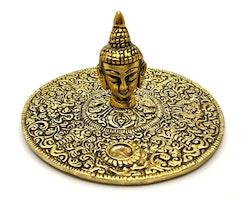 Buddhahuvud guldmetall Rökelsehållare