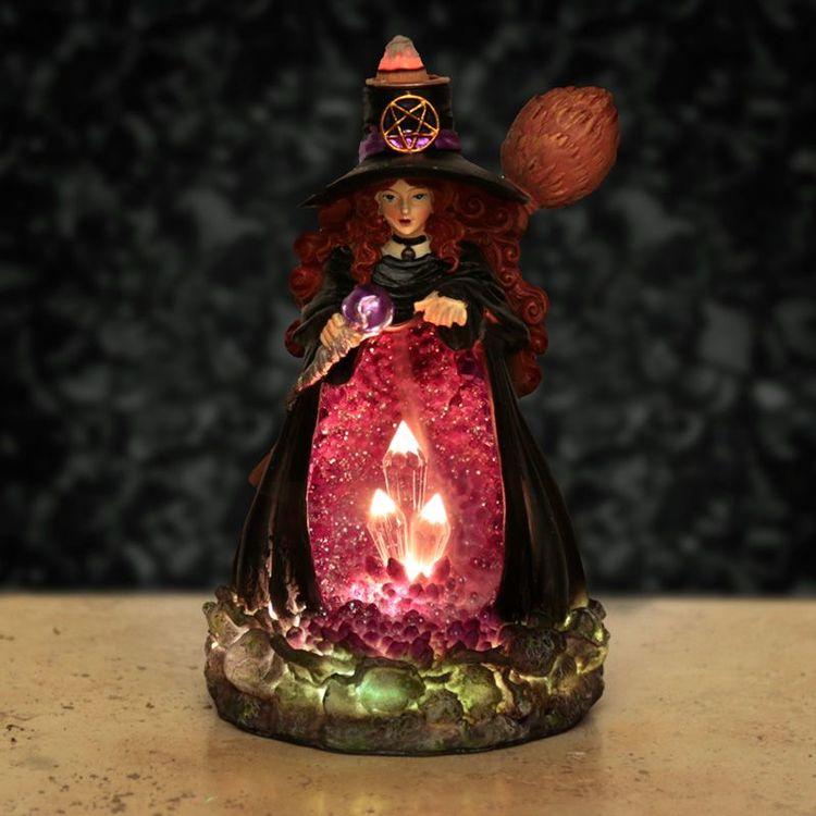 Witches Crystal Grotta LED, Backflow Rökelsebrännare