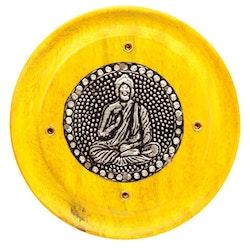 Mangoträ med Buddha Gul, Asksamlare rund