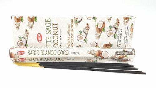 White Sage Coconut, rökelse, HEM