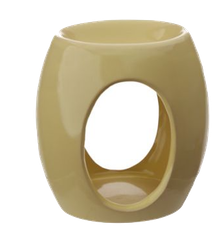 Abstract ovala utskärningar, gul Aromalampa
